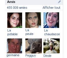 Mes exs dans mes amis facebook