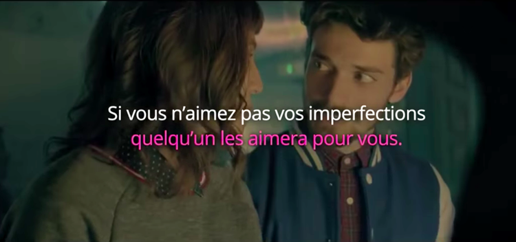 pub meetic sur les imperfections