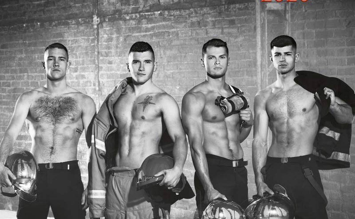 couverture calendrier pompiers sexy nus 2020