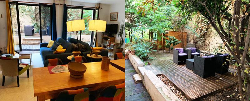 airbnb centre lyon terrasse arborée