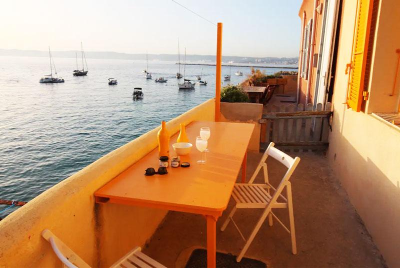 balcon vue sur mer à Marseille