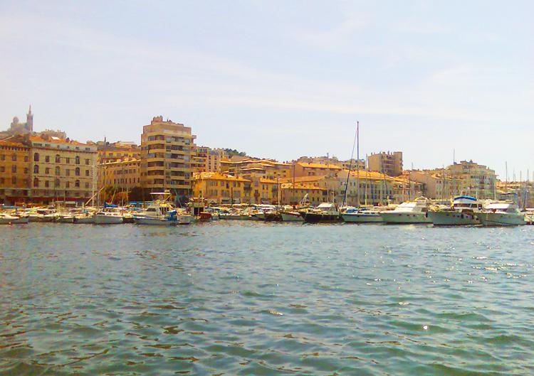 vue de Marseille avec le port