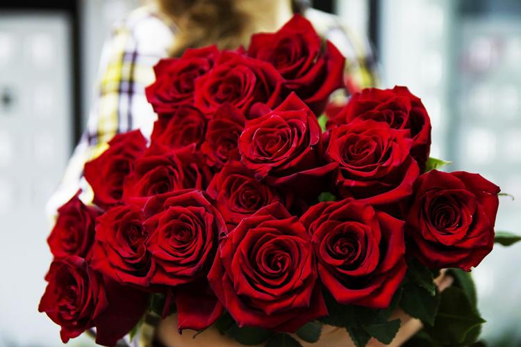 livraison de bouquet de roses rouge