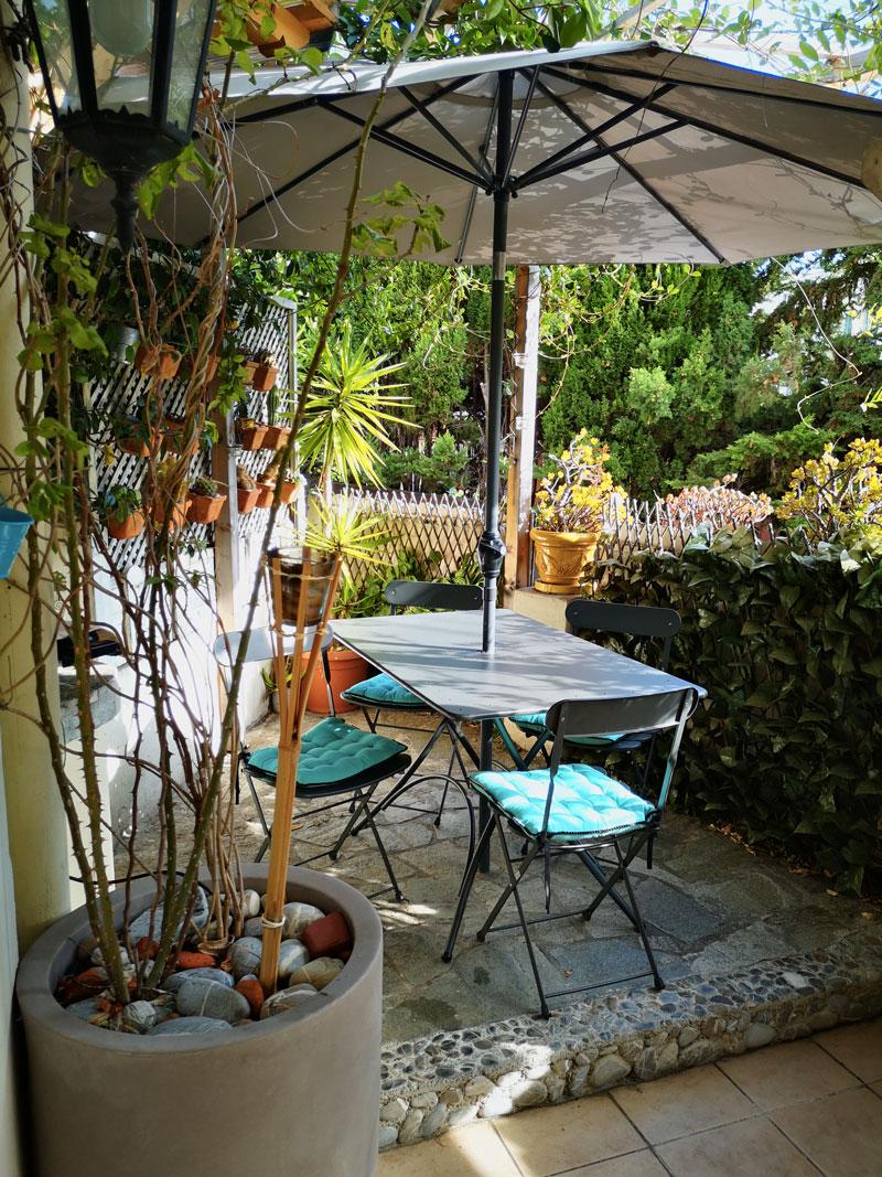 belle terrasse airbnb à Nice