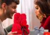 Idée cadeau : Un ours en rose artificielle mais éternelle