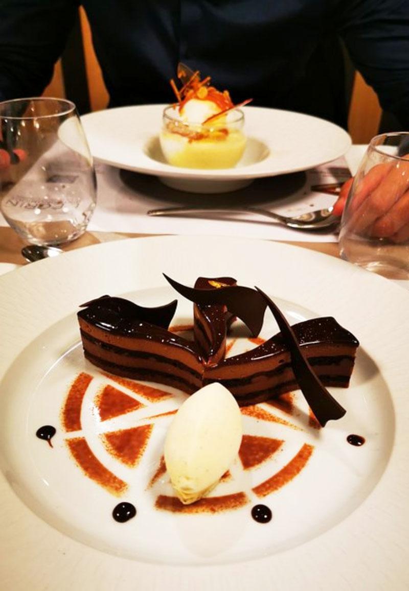 dessert du restaurant l'écrin bistronomique