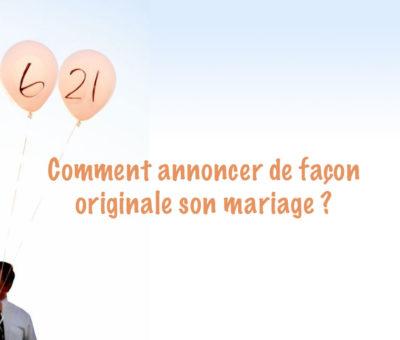 photo annonce originale mariage